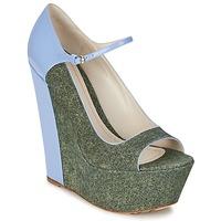 Boty Ženy Lodičky John Galliano S54261 Modrá / Zelená