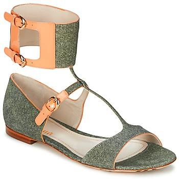 Boty Ženy Sandály John Galliano A65970 Zelená / Béžová