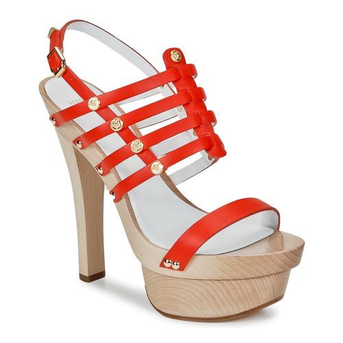 Boty Ženy Sandály Versace DSL943T Červená