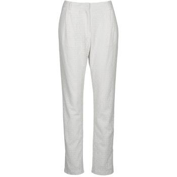 Textil Ženy Kapsáčové kalhoty Manoush FLOWER BADGE Bílá