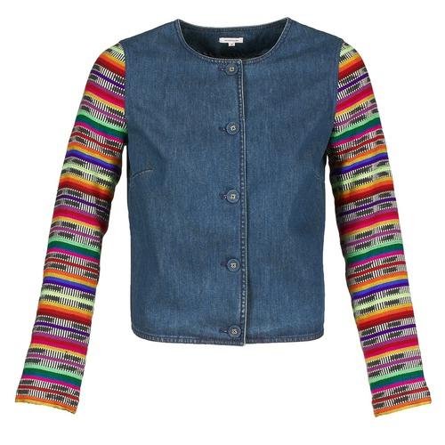 Textil Ženy Saka / Blejzry Manoush INDIAN DENIM Modrá