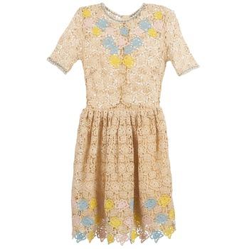 Textil Ženy Krátké šaty Manoush ROSES Krémově bílá