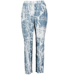 Textil Ženy Turecké kalhoty / Harémky Vila GRUNGE ME Modrá / Bílá
