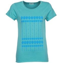 Textil Ženy Trička s krátkým rukávem Kulte JULIETTE BATIK Modrá