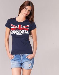 Textil Ženy Trička s krátkým rukávem Lonsdale ERYKAH Modrá