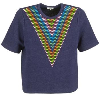 Textil Ženy Mikiny Manoush DOUDOU STAR Tmavě modrá