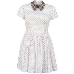 Textil Ženy Krátké šaty Manoush PLUMETIS STRASS Bílá / Červená