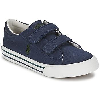 Boty Děti Nízké tenisky Polo Ralph Lauren HARRISON EZ Modrá