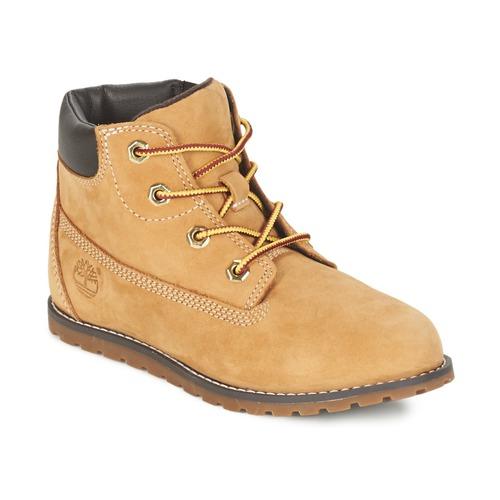 Boty Děti Kotníkové boty Timberland POKEY PINE 6IN BOOT WITH Béžová