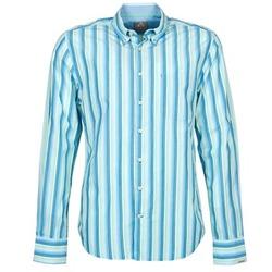 Textil Muži Košile s dlouhymi rukávy Gaastra SUMMERJAM Modrá / Bílá