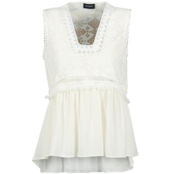 Textil Ženy Tílka / Trička bez rukávů  Kookaï VACHOVA Bílá