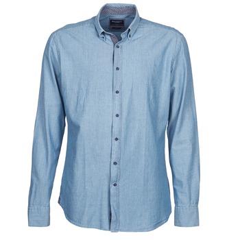Textil Muži Košile s dlouhymi rukávy Hackett RILEY Modrá