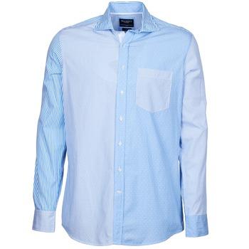 Textil Muži Košile s dlouhymi rukávy Hackett GORDON Modrá