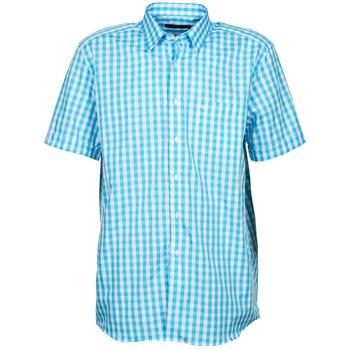 Textil Muži Košile s krátkými rukávy Pierre Cardin 539236202-140 Modrá