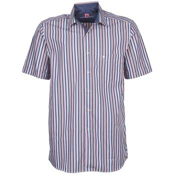 Textil Muži Košile s krátkými rukávy Pierre Cardin 514636216-184 Modrá / Růžová