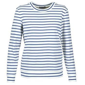 Textil Ženy Mikiny Petit Bateau BEAM Bílá / Tmavě modrá