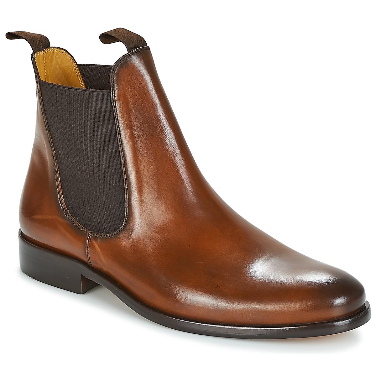 Kotnikove boty Brett & Sons BERNARD Zlatohnědá