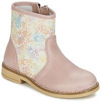 Boty Dívčí Kotníkové boty Citrouille et Compagnie OUGAMO LIBERTY Růžová / Květinový vzor