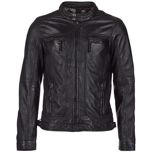 Textil Muži Kožené bundy / imitace kůže Oakwood CASEY Černá