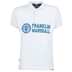 Textil Muži Polo s krátkými rukávy Franklin & Marshall AYLEN Bílá