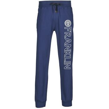 Textil Muži Teplákové kalhoty Franklin & Marshall ALLEN Tmavě modrá