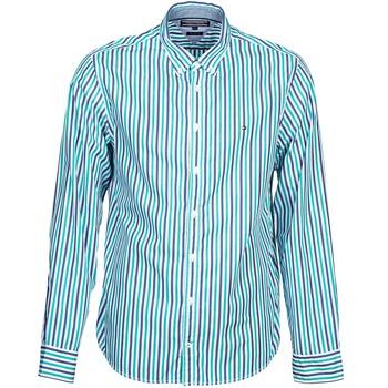 Textil Muži Košile s dlouhymi rukávy Tommy Hilfiger KELL STP NF2 Modrá / Zelená