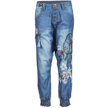 Textil Ženy Turecké kalhoty / Harémky Desigual ANIATINE Modrá