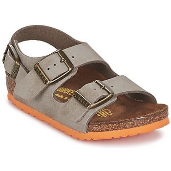 Boty Chlapecké Sandály Birkenstock MILANO Šedobéžová