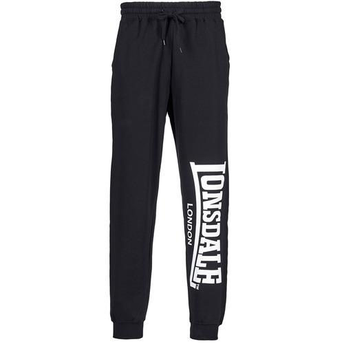 Textil Muži Teplákové kalhoty Lonsdale LARGE LOGO Černá