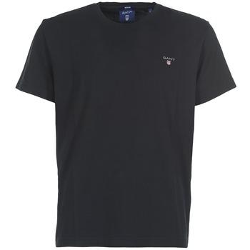 Textil Muži Trička s krátkým rukávem Gant THE ORIGINAL SOLID T-SHIRT Černá