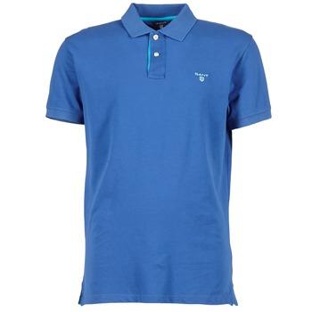 Textil Muži Polo s krátkými rukávy Gant CONTRAST COLLAR PIQUE Modrá
