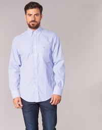 Textil Muži Košile s dlouhymi rukávy Gant THE POPLIN BANKER STRIPE Modrá