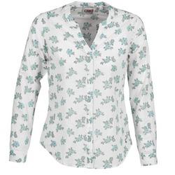 Textil Ženy Košile / Halenky Mustang FLOWER BLOUSE Bílá / Modrá