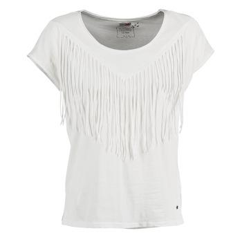 Textil Ženy Trička s krátkým rukávem Mustang FRINGE Bílá
