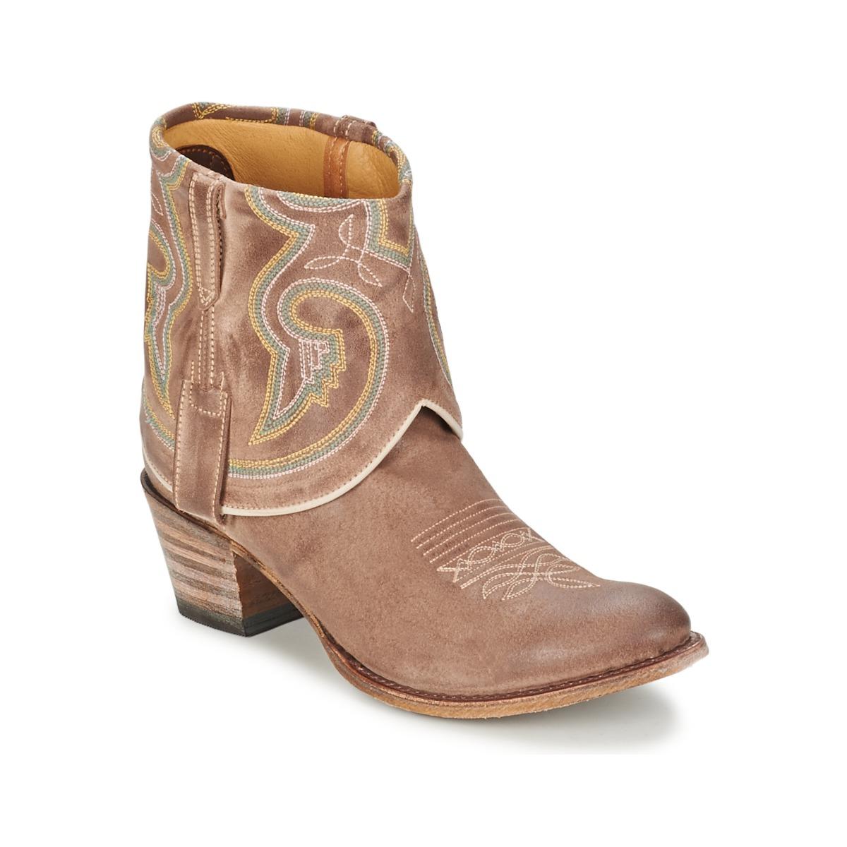 Kotnikove boty Sendra boots 11011 Šedobéžová