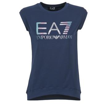 Textil Ženy Trička s krátkým rukávem Emporio Armani EA7 ANDROUL Tmavě modrá