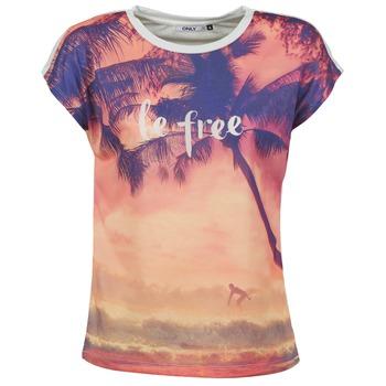 Textil Ženy Trička s krátkým rukávem Only BE FREE SUMMER