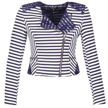 Textil Ženy Saka / Blejzry Morgan VMEL Tmavě modrá / Bílá