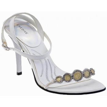 Boty Ženy Sandály Chedivé  Bílá