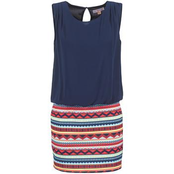 Textil Ženy Krátké šaty Moony Mood EVELI Tmavě modrá