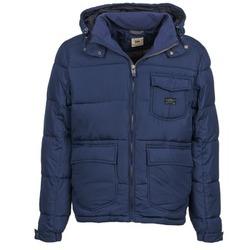 Textil Muži Prošívané bundy Lee LOCO PUFFA Tmavě modrá