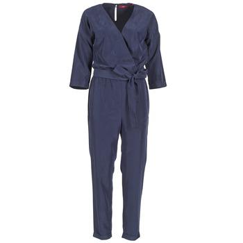 Textil Ženy Overaly / Kalhoty s laclem S.Oliver WIGOU Tmavě modrá