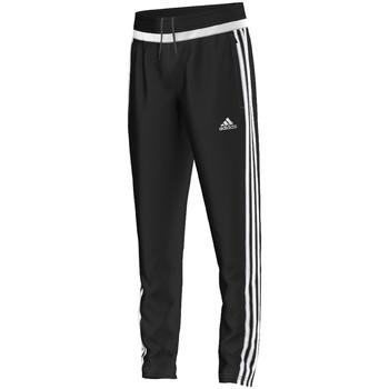 Textil Chlapecké Teplákové kalhoty adidas Performance tiro15 Training Pant Jr BLACK / WHITE / BLACK
