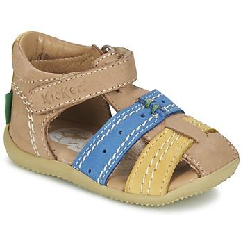 Boty Chlapecké Sandály Kickers BIGBAZAR Béžová / Modrá / Žlutá