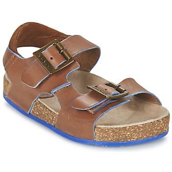 Boty Chlapecké Sandály Kickers NANTI Hnědá