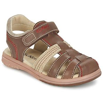 Boty Chlapecké Sandály Kickers PLATINIUM Hnědá