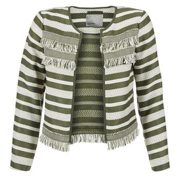 Textil Ženy Saka / Blejzry Vero Moda FRILL Khaki / Krémově bílá