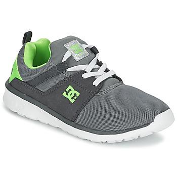 Boty Chlapecké Nízké tenisky DC Shoes HEATHROW Šedá / Bílá / Zelená