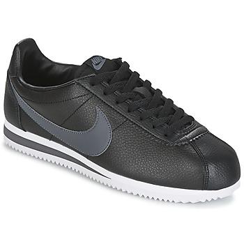 Boty Muži Nízké tenisky Nike CLASSIC CORTEZ LEATHER Černá / Šedá
