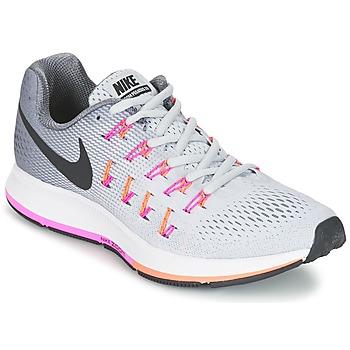 Boty Ženy Běžecké / Krosové boty Nike AIR ZOOM PEGASUS 33 W Šedá / Růžová